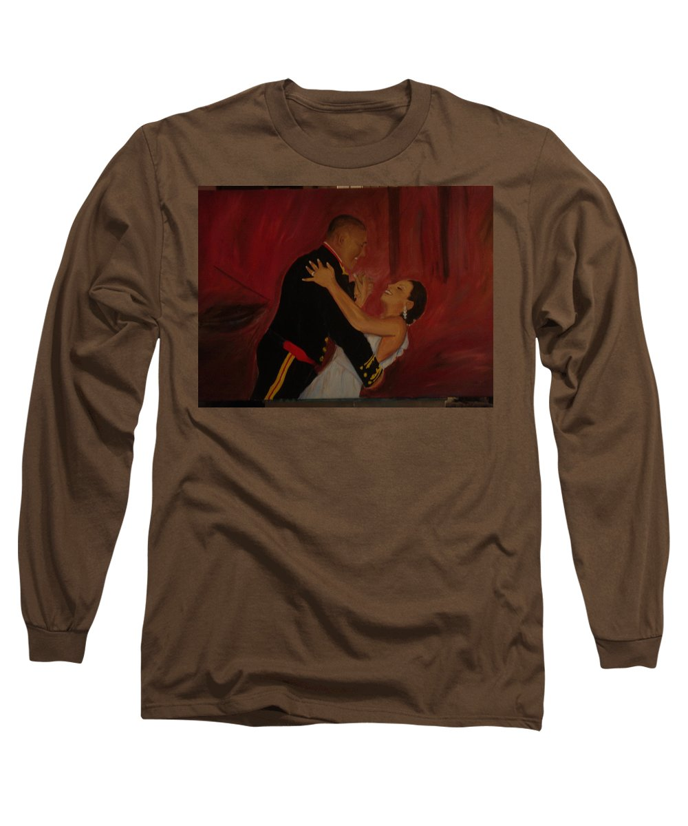 Marine Long Sleeve T-Shirt featuring the painting Just Married by Regina Walsh
