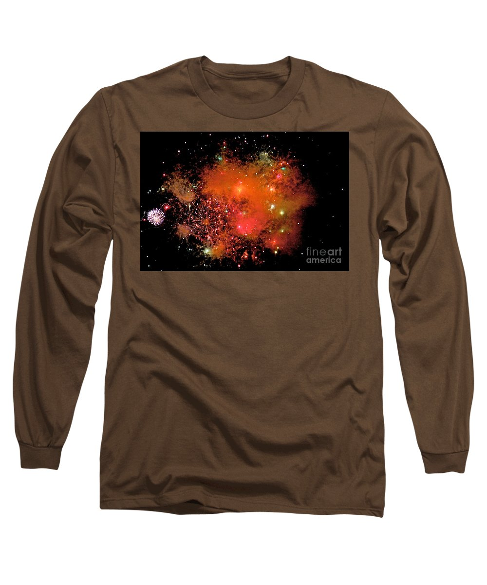 Fire Works Long Sleeve T-Shirt featuring the photograph Ka Boom by Robert Pearson