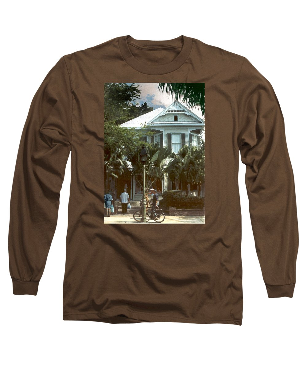 Historic Long Sleeve T-Shirt featuring the photograph Keywest by Steve Karol