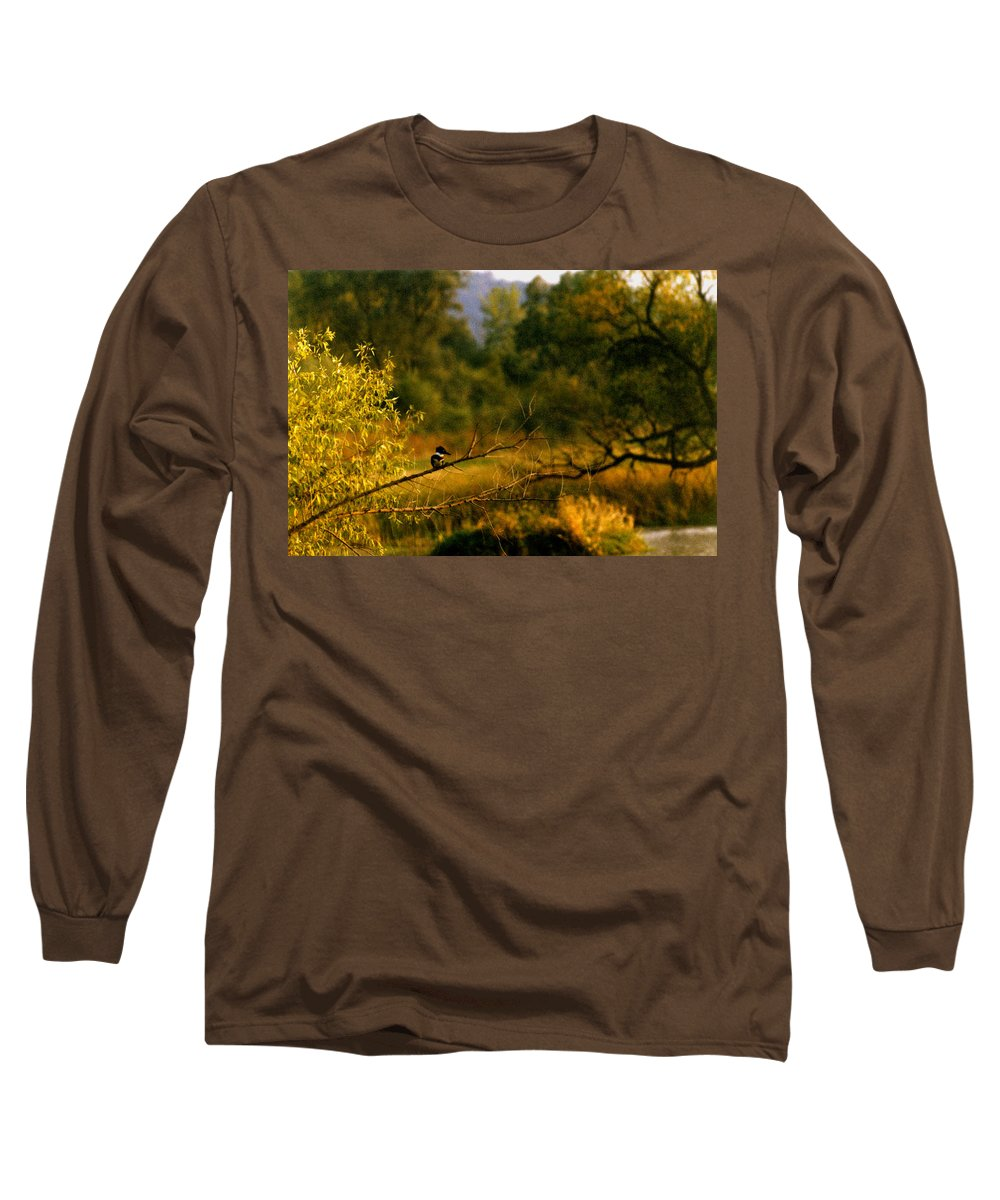 Landscape Long Sleeve T-Shirt featuring the photograph King Fisher by Steve Karol