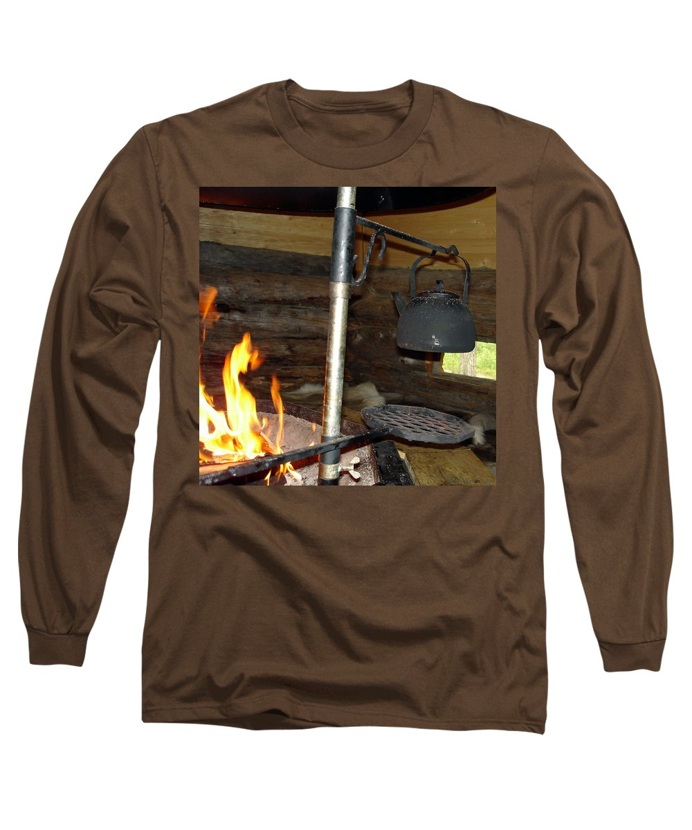 Kota Long Sleeve T-Shirt featuring the photograph Kota Kitchen In Lapland by Merja Waters