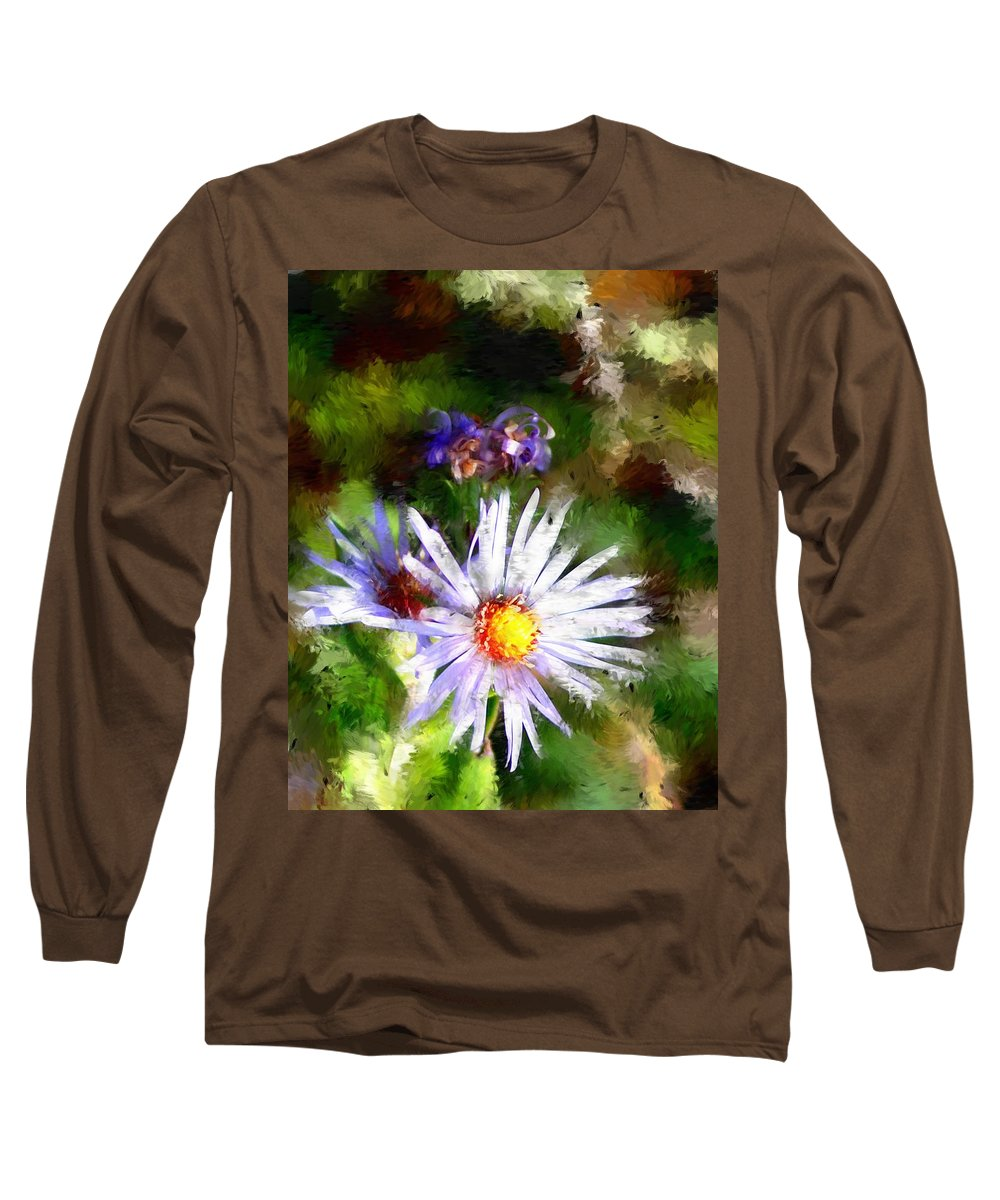 Flower Long Sleeve T-Shirt featuring the photograph Last Rose Of Summer by David Lane