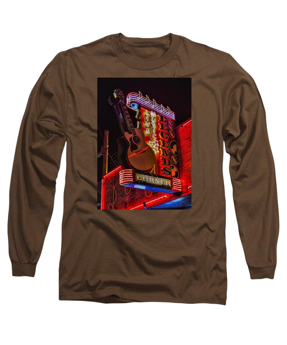 Nashville Long Sleeve T-Shirt featuring the photograph Legends Corner Nashville by Stephen Stookey
