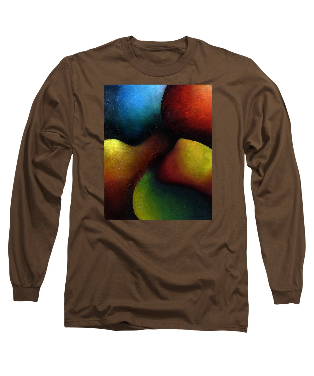 Fruit Long Sleeve T-Shirt featuring the painting Life's Fruit by Elizabeth Lisy Figueroa