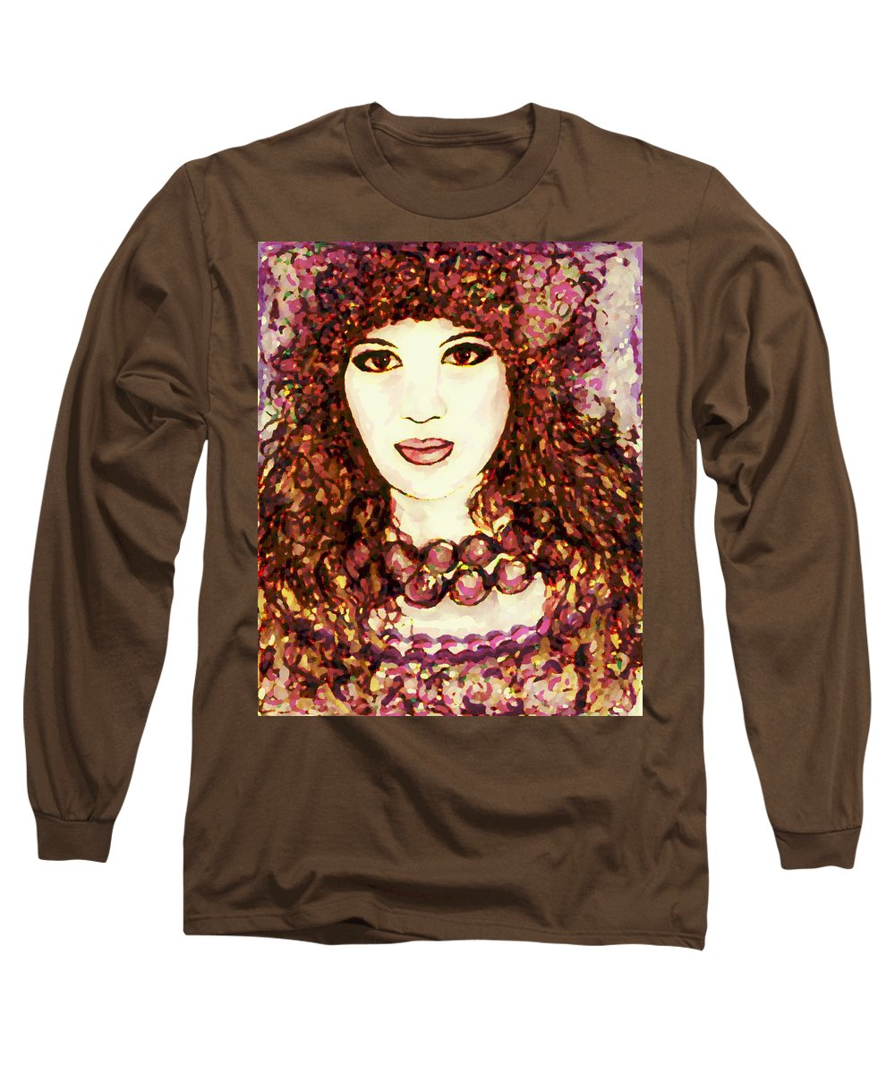 Woman Long Sleeve T-Shirt featuring the painting Lilac by Natalie Holland