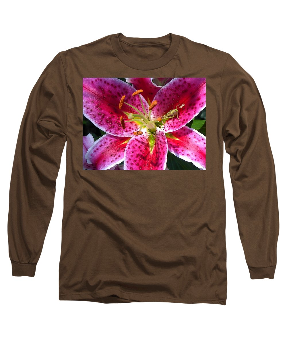 Charity Long Sleeve T-Shirt featuring the photograph Lily by Mary-Lee Sanders