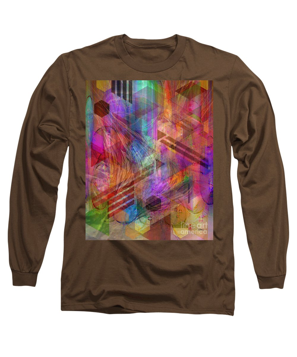 Magnetic Abstraction Long Sleeve T-Shirt featuring the digital art Magnetic Abstraction by John Beck