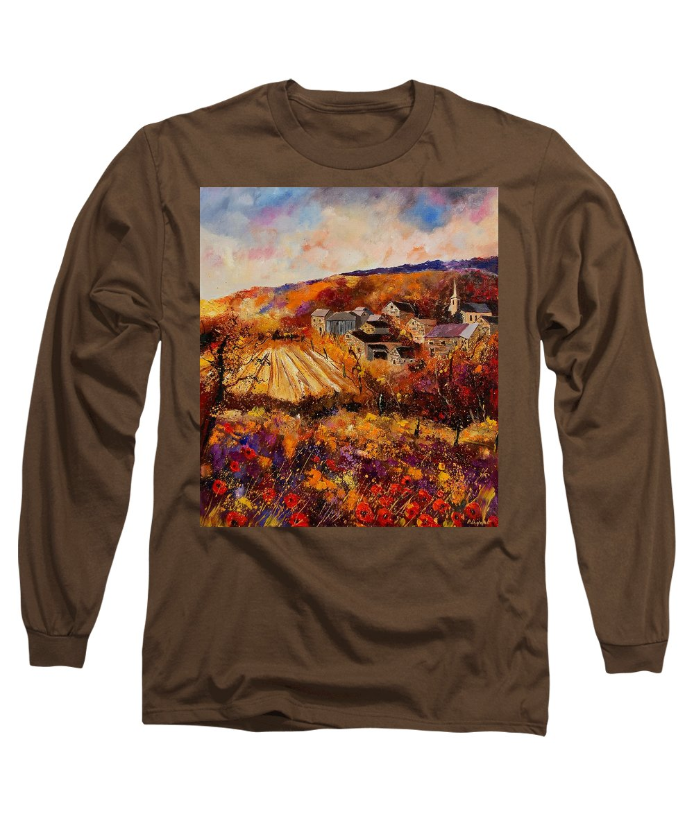 Poppies Long Sleeve T-Shirt featuring the painting Maissin by Pol Ledent