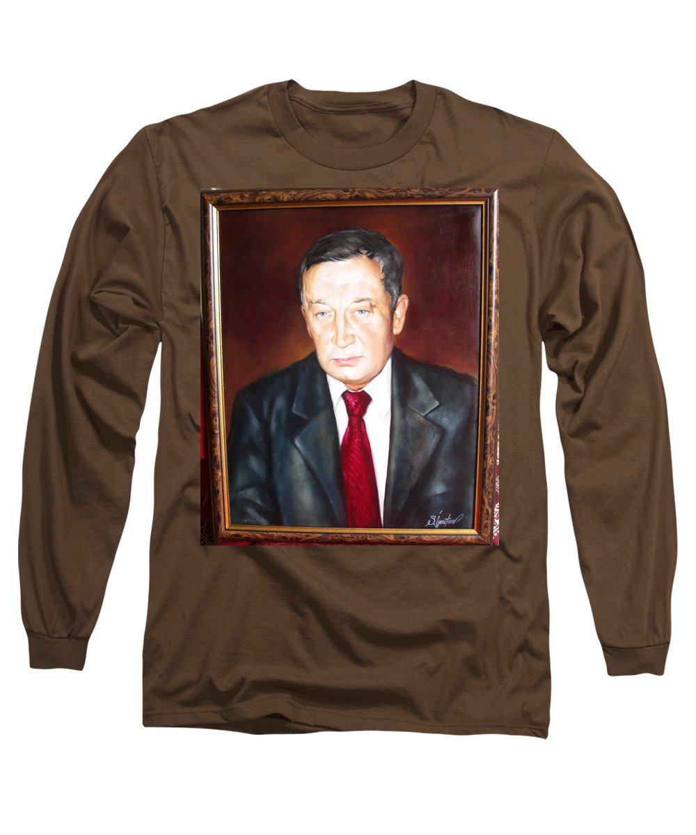 Art Long Sleeve T-Shirt featuring the painting Man 1 by Sergey Ignatenko