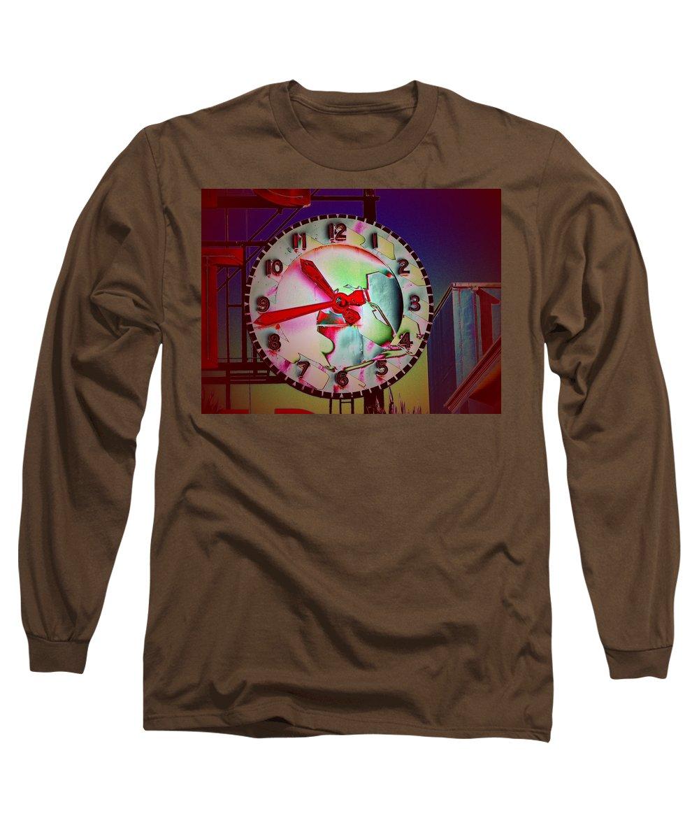 Seattle Long Sleeve T-Shirt featuring the digital art Market Clock 3 by Tim Allen