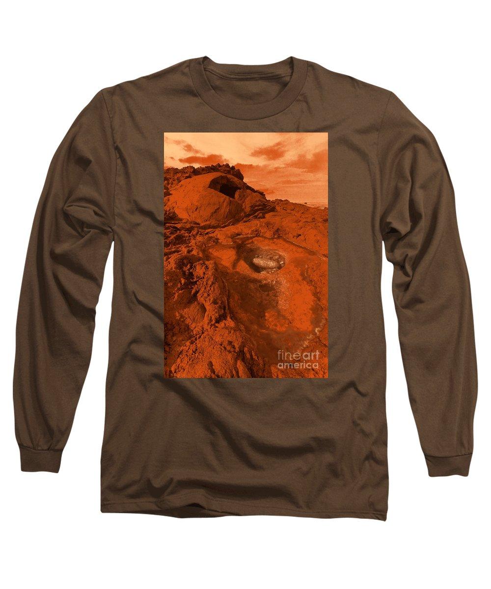 Alien Long Sleeve T-Shirt featuring the photograph Mars Landscape by Gaspar Avila