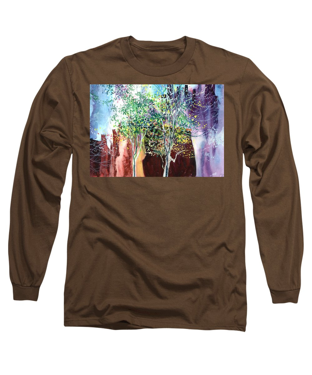 Nature Long Sleeve T-Shirt featuring the painting Maya by Anil Nene
