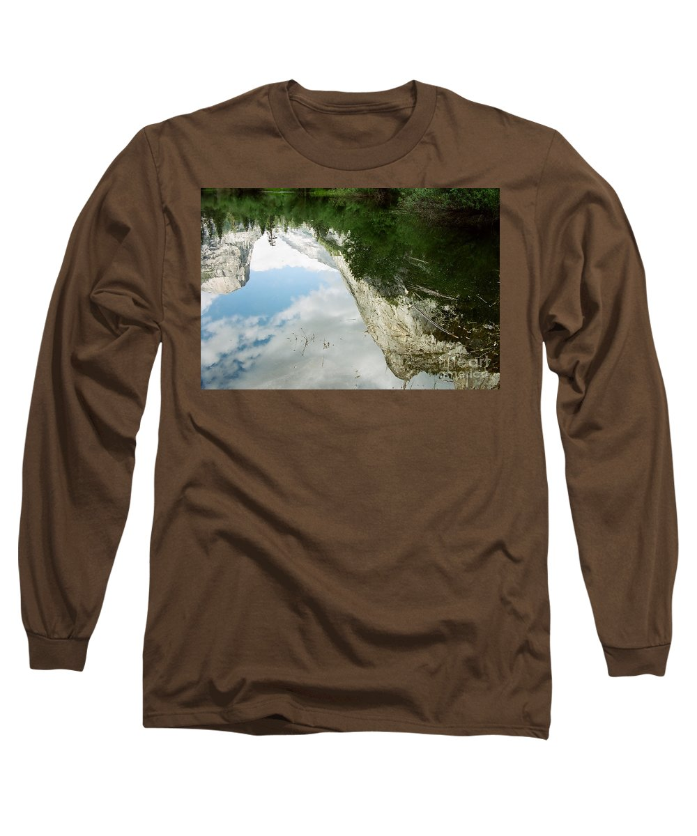 Mirror Lake Long Sleeve T-Shirt featuring the photograph Mirrored by Kathy McClure