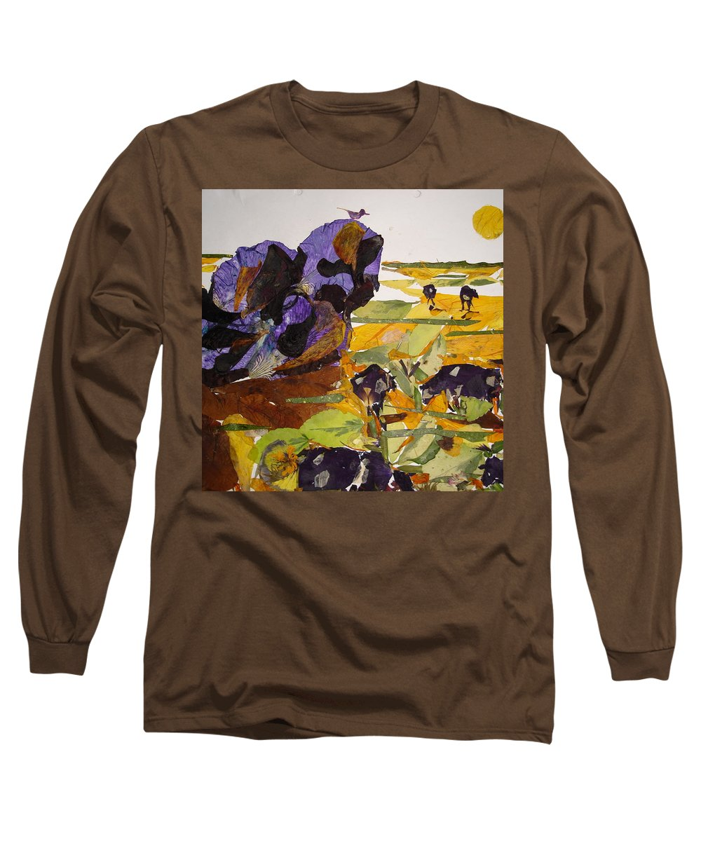 Glory Of Morning Long Sleeve T-Shirt featuring the mixed media Morning Activities by Basant Soni