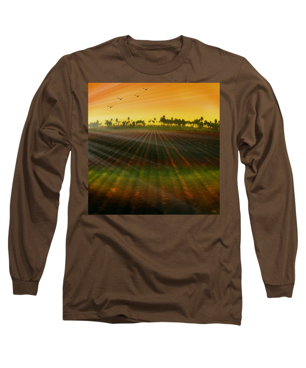 Landscape Long Sleeve T-Shirt featuring the photograph Morning Has Broken by Holly Kempe