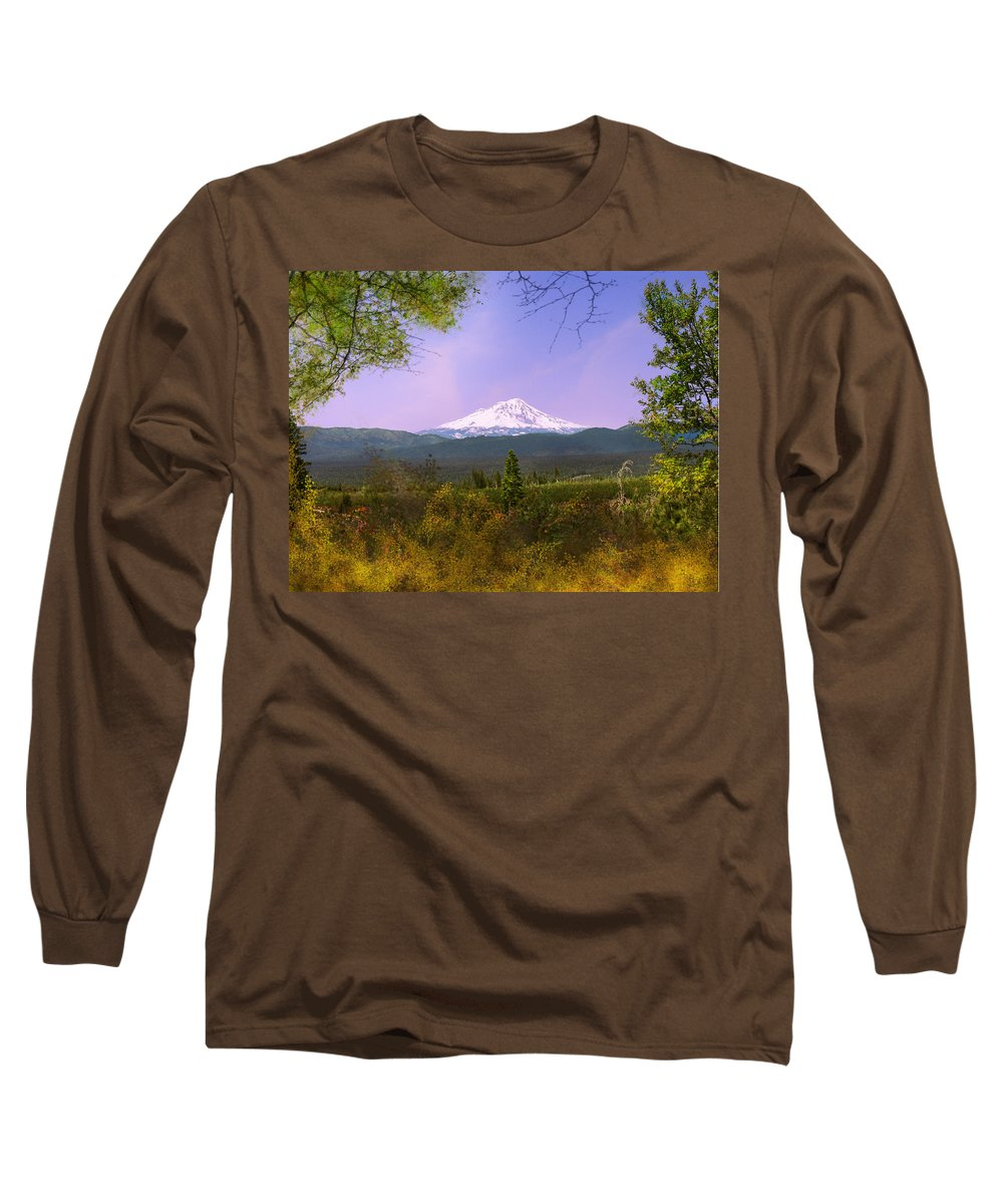 Landscapes Long Sleeve T-Shirt featuring the photograph Mt. Shasta by Karen W Meyer