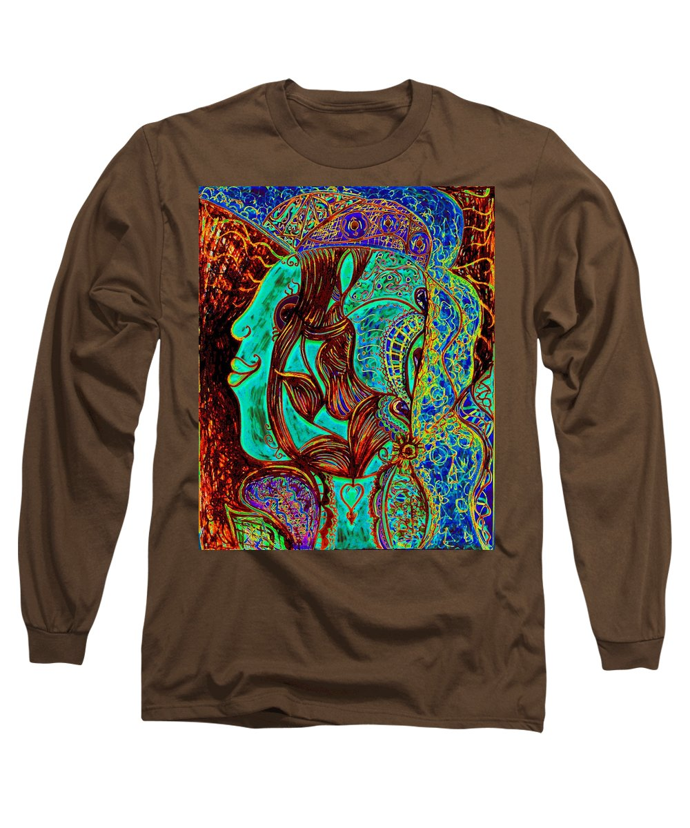 Woman Long Sleeve T-Shirt featuring the painting My Gorgeous Cousin by Natalie Holland