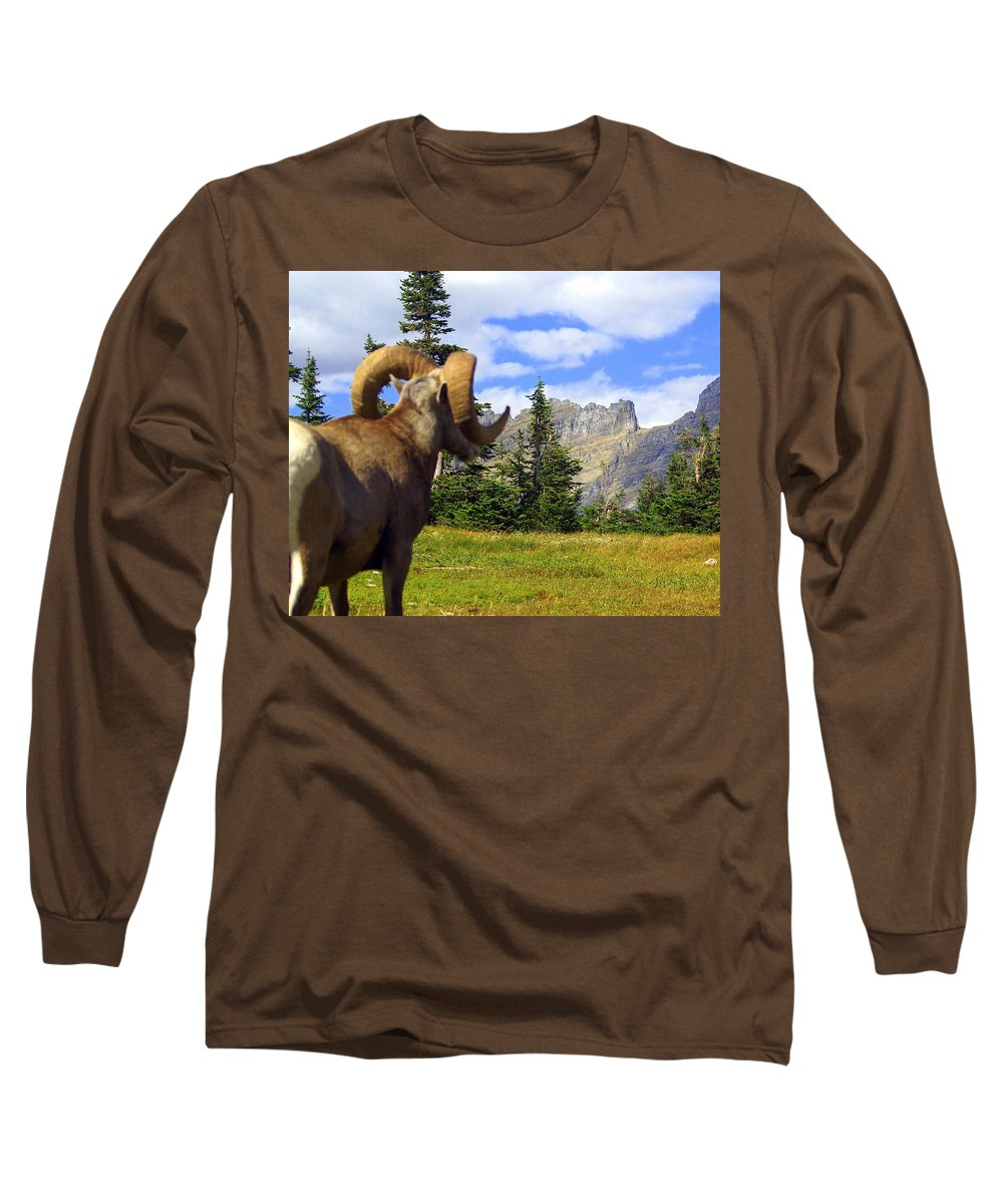 Glacier National Park Long Sleeve T-Shirt featuring the photograph My Kingdom by Marty Koch