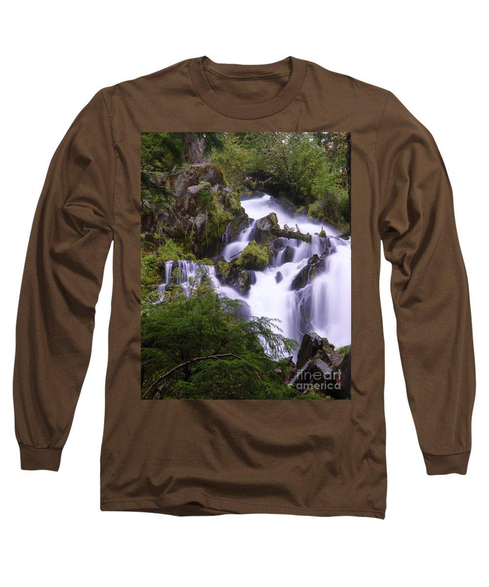 Waterfall Long Sleeve T-Shirt featuring the photograph National Creek Falls 05 by Peter Piatt