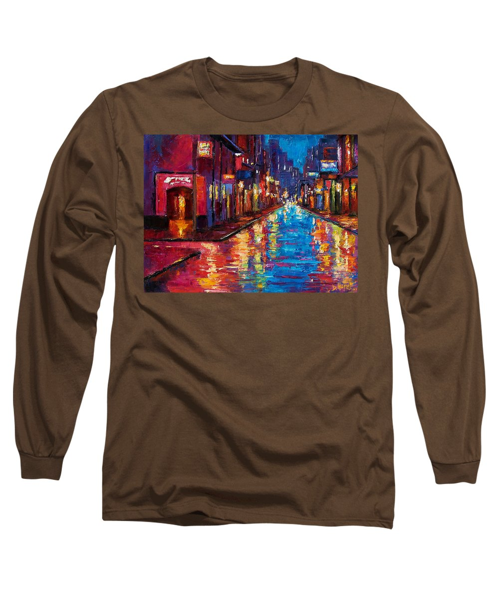 New Orleans Long Sleeve T-Shirt featuring the painting New Orleans Magic by Debra Hurd