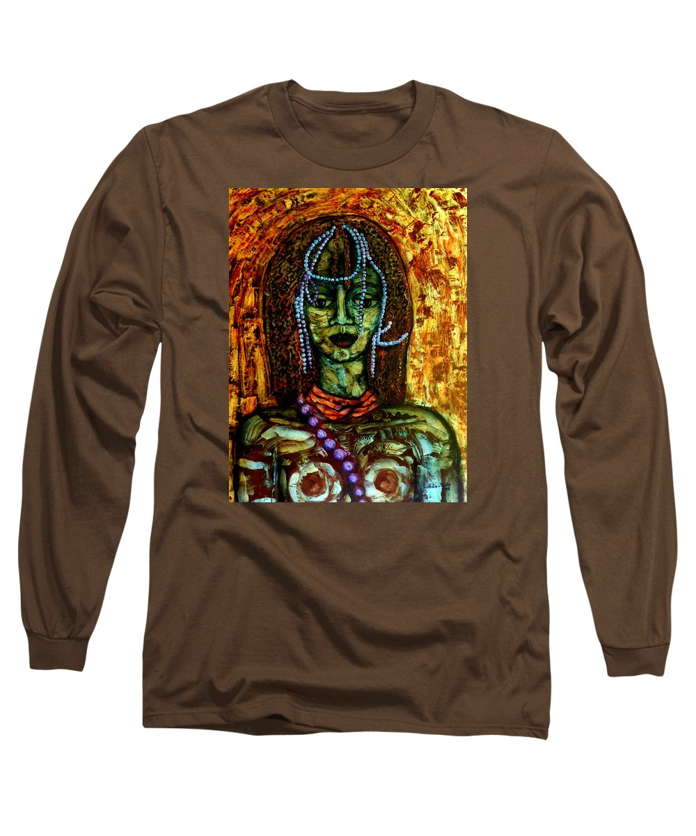 Memories Long Sleeve T-Shirt featuring the painting Of Another Childhood I Keep Memories by Madalena Lobao-Tello