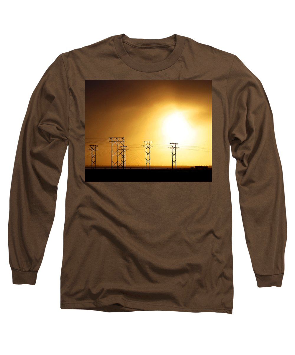 Truck Long Sleeve T-Shirt featuring the photograph On The Road by Anthony Jones