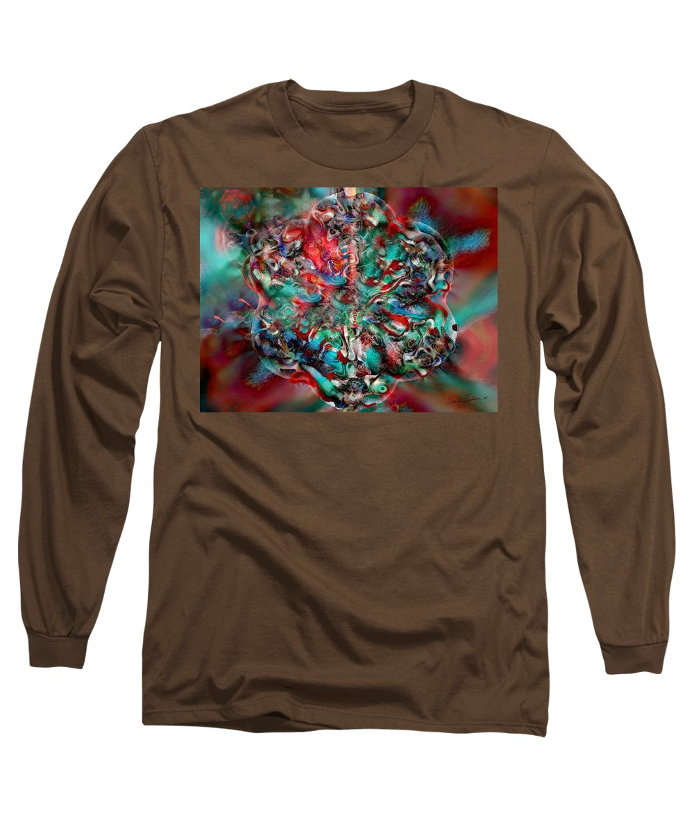 Heart Passion Life Long Sleeve T-Shirt featuring the digital art Open Heart by Veronica Jackson