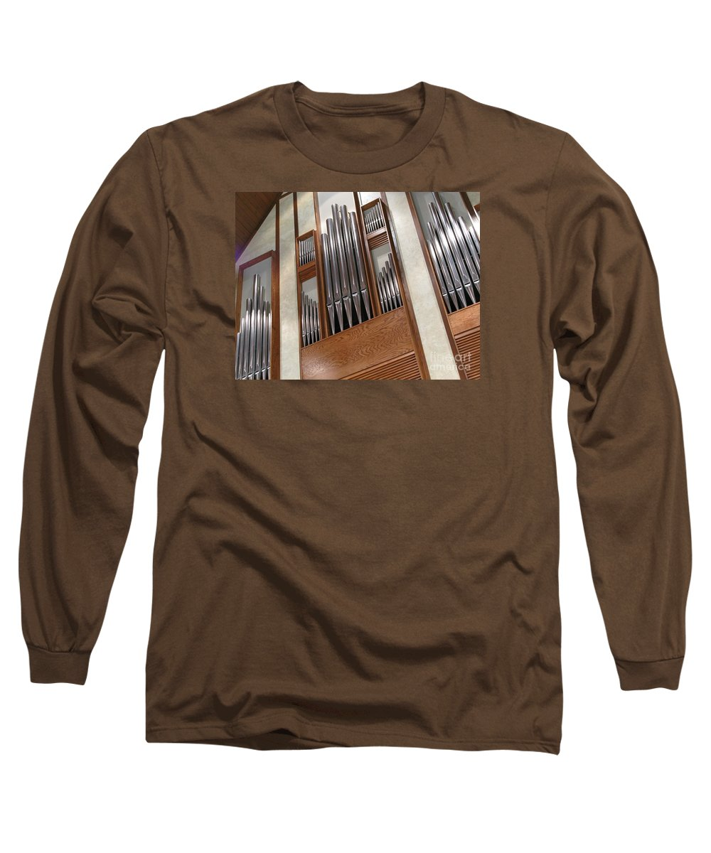 Music Long Sleeve T-Shirt featuring the photograph Organ Pipes by Ann Horn