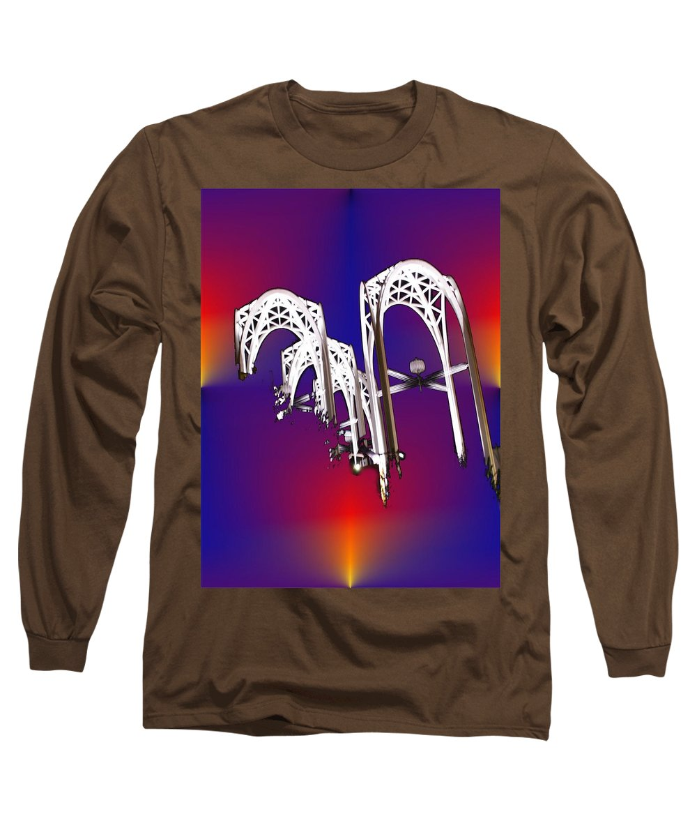 Seattle Long Sleeve T-Shirt featuring the photograph Pacific Science Center Arches by Tim Allen