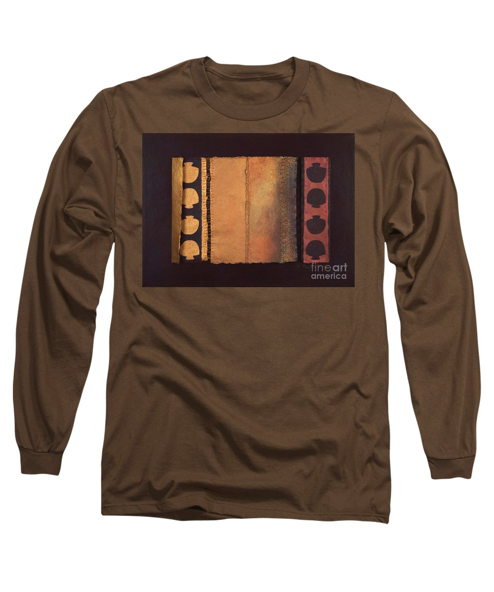 Artistbook Long Sleeve T-Shirt featuring the painting Page Format No.4 Tansitional Series by Kerryn Madsen-Pietsch