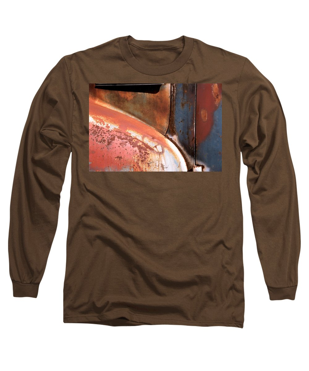 Abstract Long Sleeve T-Shirt featuring the photograph Panel From Ole Bill by Steve Karol