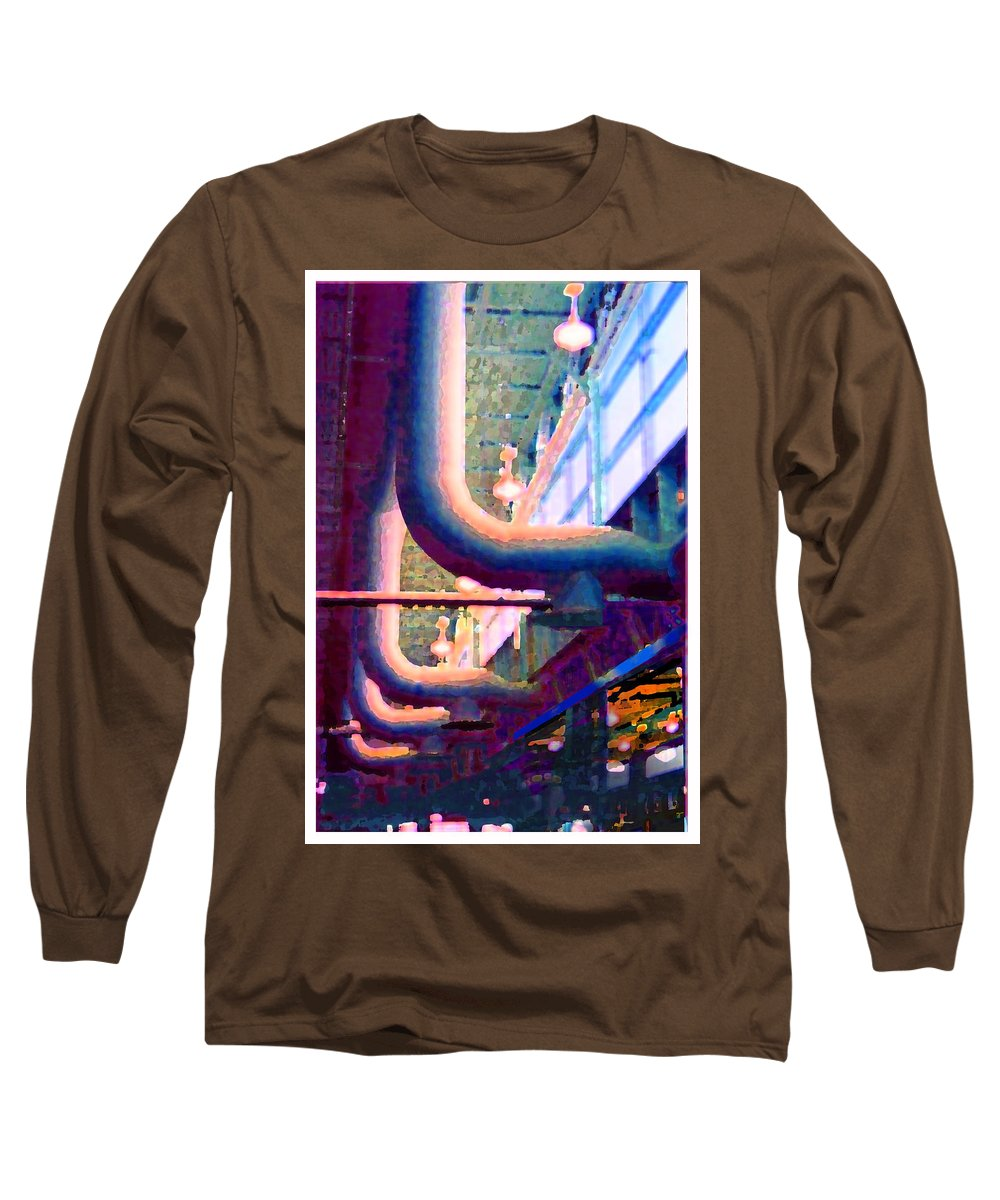 Abstract Long Sleeve T-Shirt featuring the photograph panel one from Star Factory by Steve Karol
