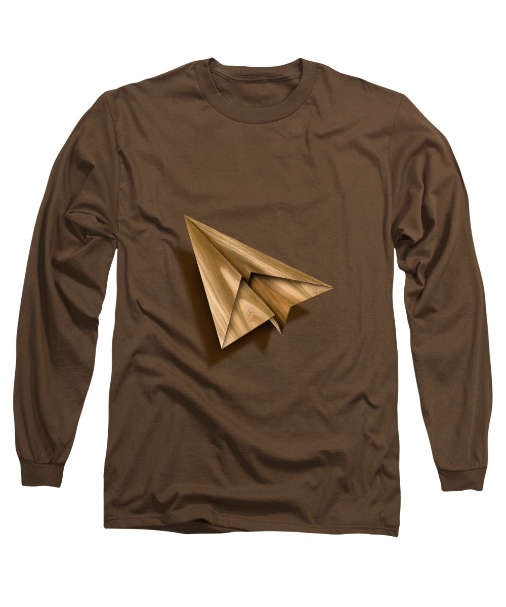 Aircraft Long Sleeve T-Shirt featuring the photograph Paper Airplanes Of Wood 1 by YoPedro