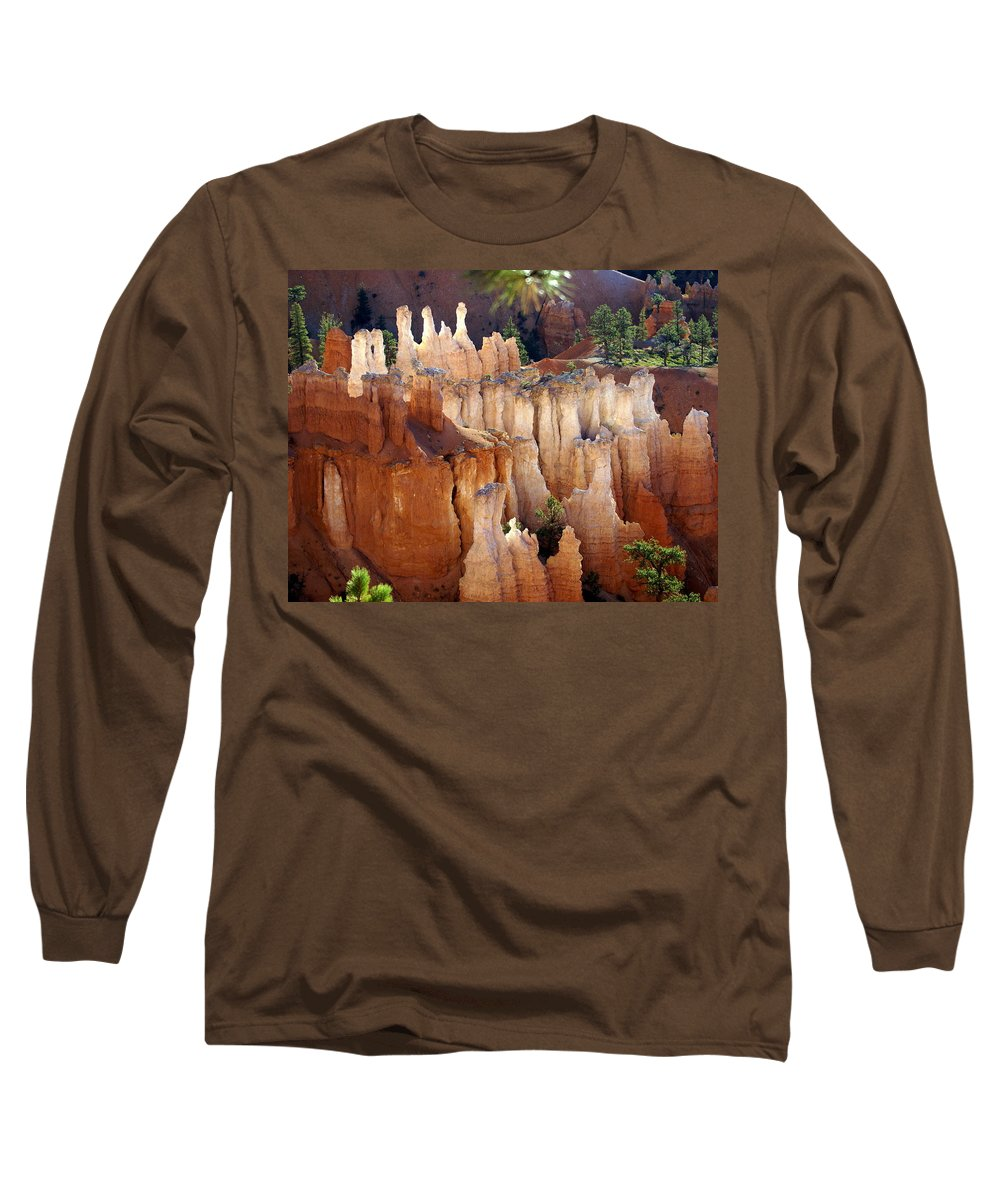 Bryce Canyon National Park Long Sleeve T-Shirt featuring the photograph Pastel Bryce by Marty Koch