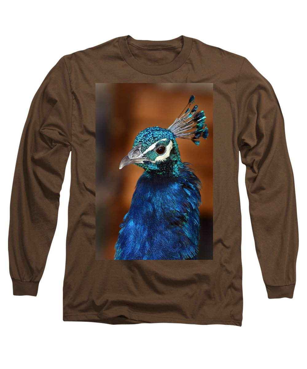 Peacock Long Sleeve T-Shirt featuring the photograph Peacock by Anthony Jones