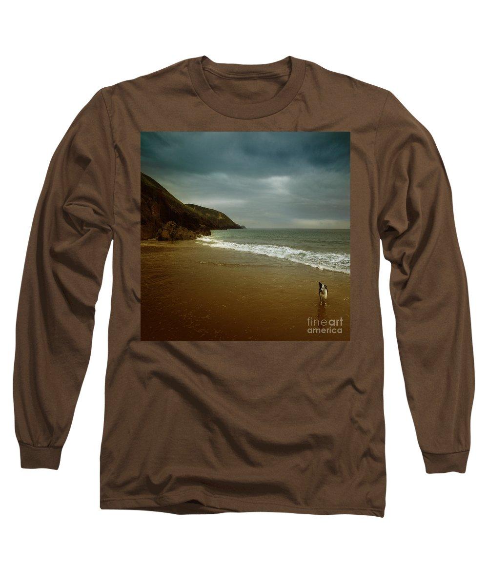 Beach Long Sleeve T-Shirt featuring the photograph Pembrokeshire by Angel Ciesniarska