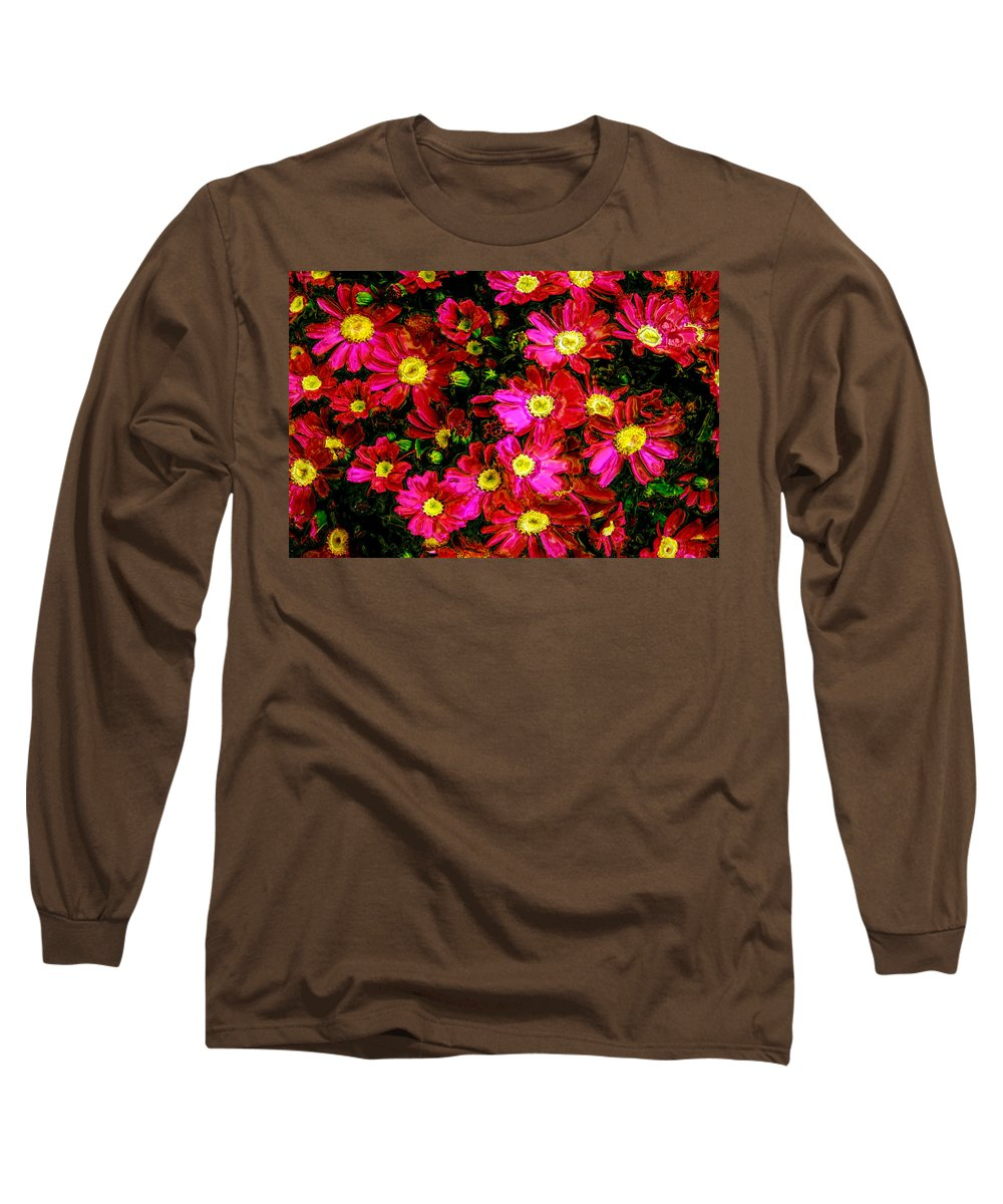 Flower Long Sleeve T-Shirt featuring the photograph Pink Friends by Phill Petrovic