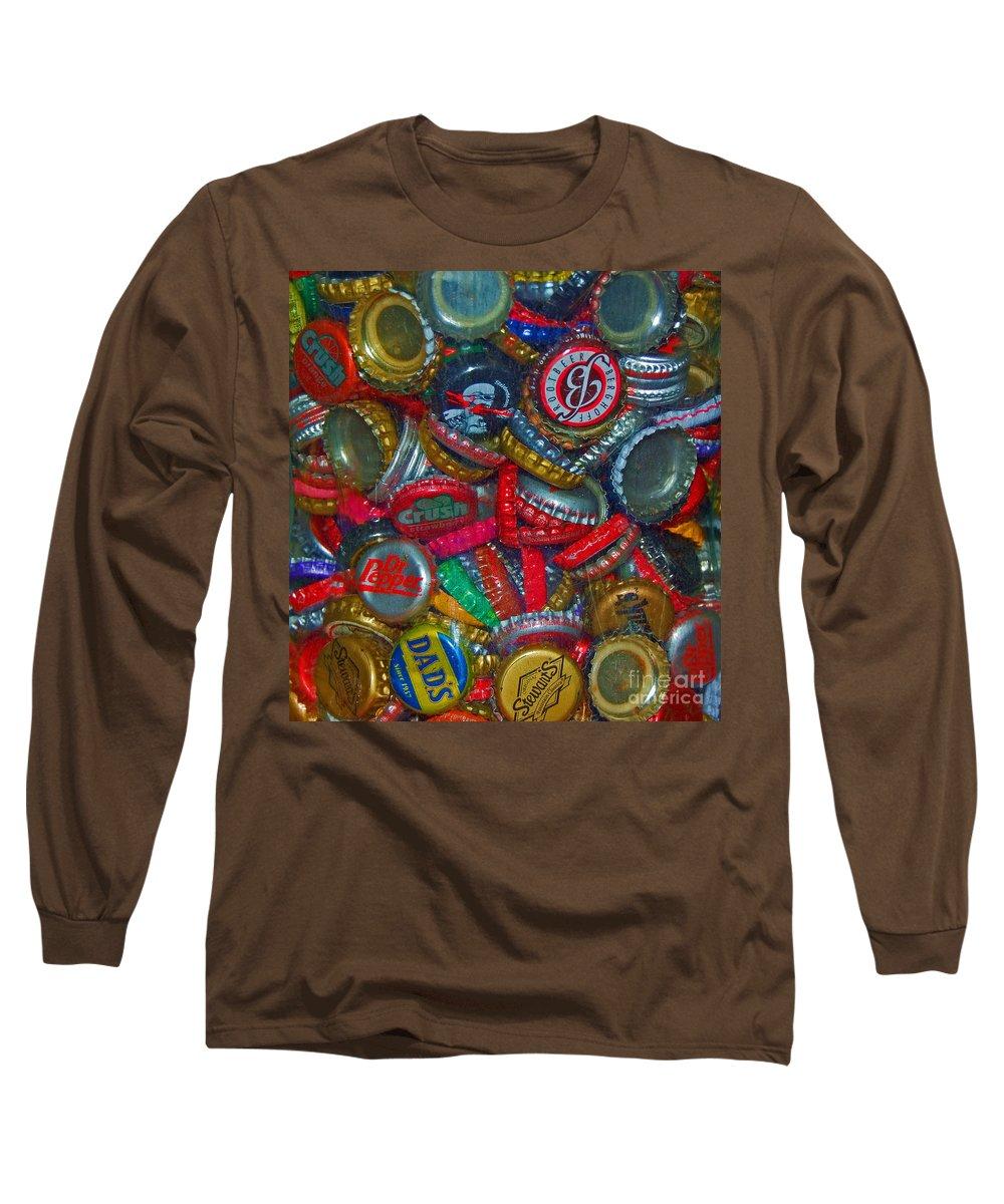 Bottles Long Sleeve T-Shirt featuring the photograph Pop Art by Debbi Granruth