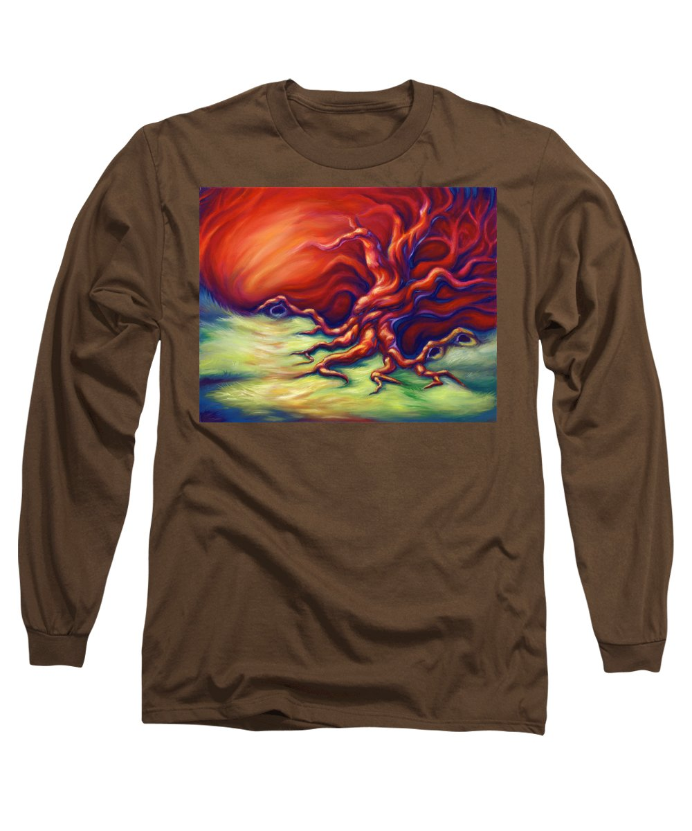 Oil Painting Long Sleeve T-Shirt featuring the painting Quiet Place by Jennifer McDuffie