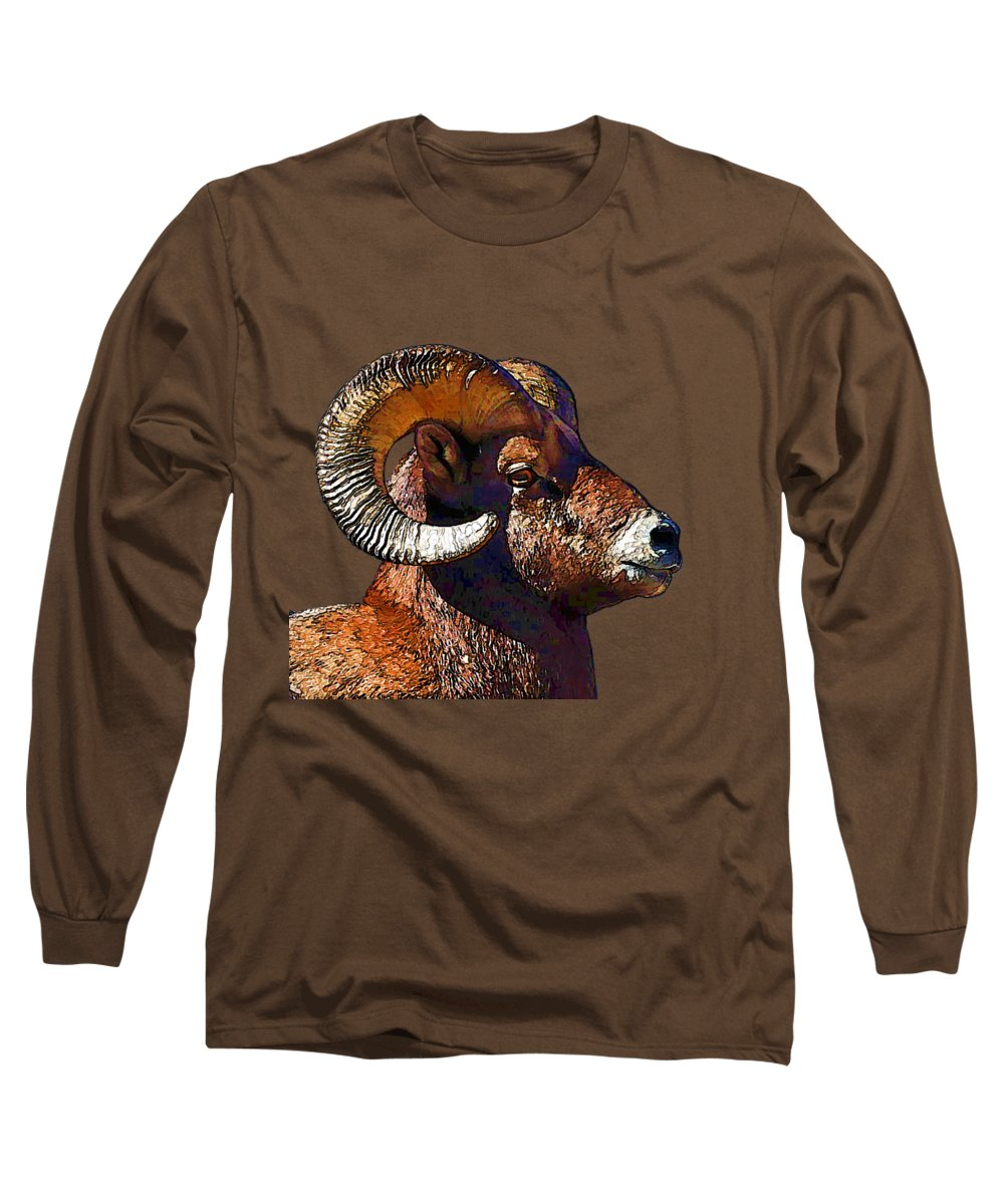 Rocky Mountain Bighorn Sheep Long Sleeve T-Shirts