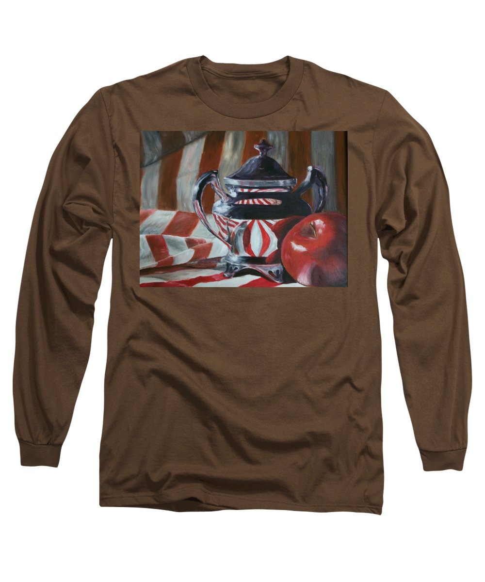 Still Life Long Sleeve T-Shirt featuring the painting Reflections by Stephen King
