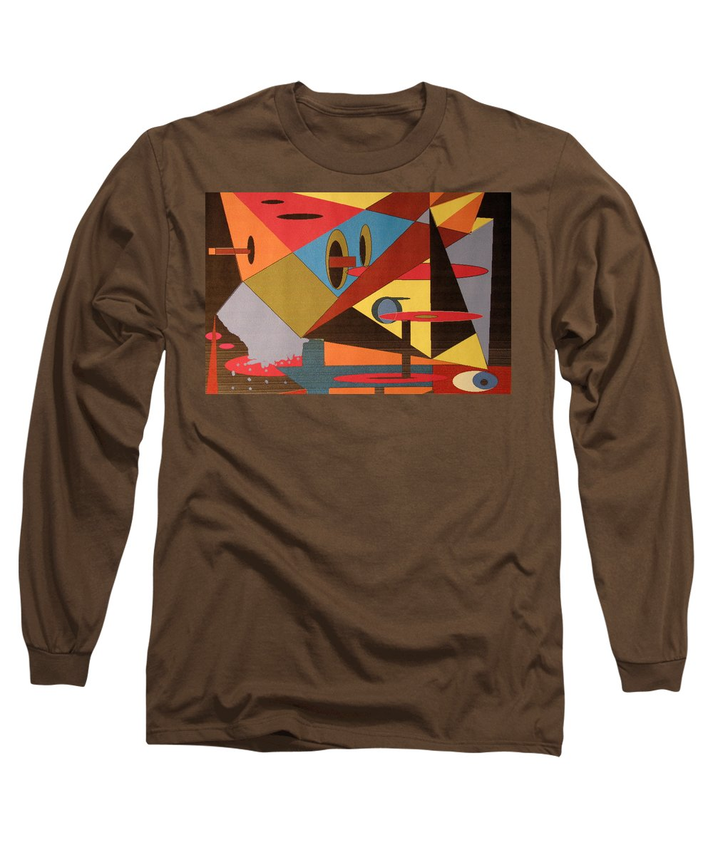Abstract Long Sleeve T-Shirt featuring the digital art Regret by Ian MacDonald