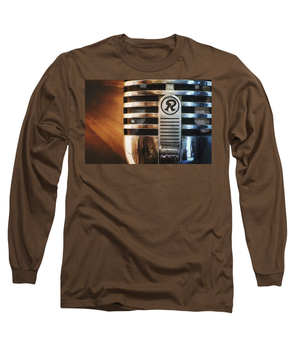 Mic Long Sleeve T-Shirt featuring the photograph Retro Microphone by Scott Norris