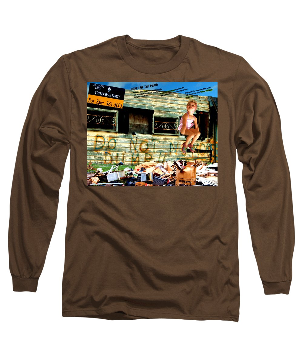 Riverfront Development Long Sleeve T-Shirt featuring the photograph Riverfront Visions by Ze DaLuz