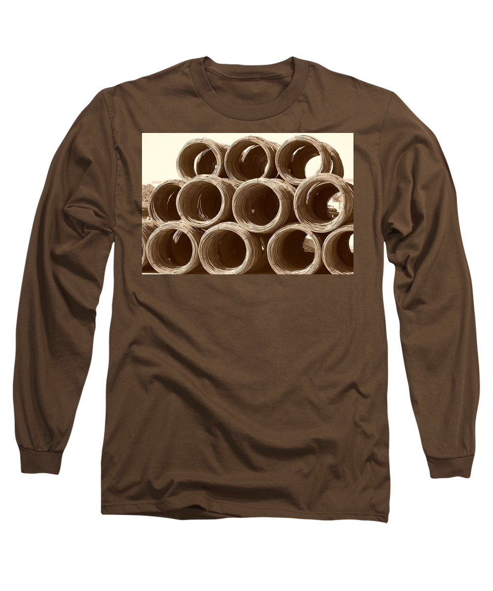 Metal Long Sleeve T-Shirt featuring the photograph Rolled Steele by Rob Hans