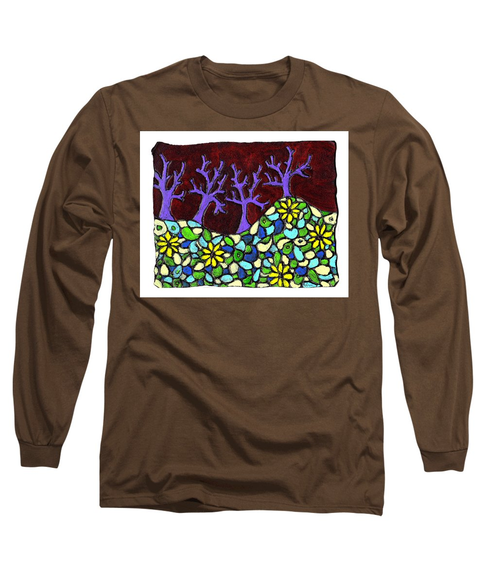 Trees Long Sleeve T-Shirt featuring the painting Royal Forest by Wayne Potrafka