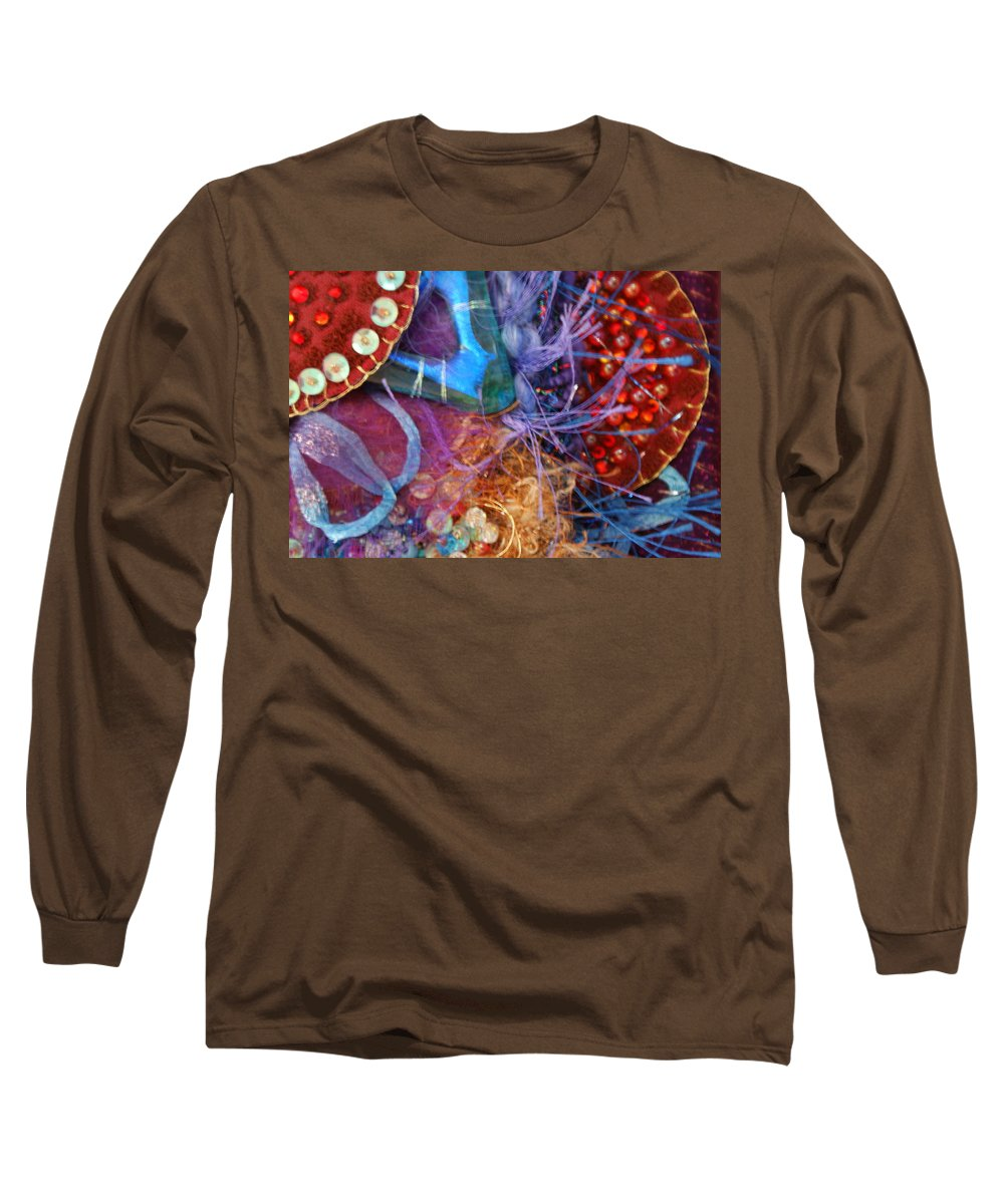 Long Sleeve T-Shirt featuring the mixed media Ruby Slippers 6 by Judy Henninger