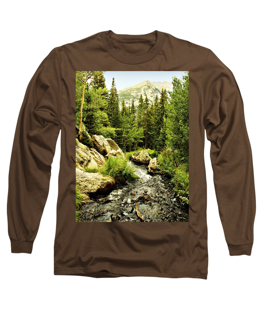Colorado Long Sleeve T-Shirt featuring the photograph Running River by Marilyn Hunt