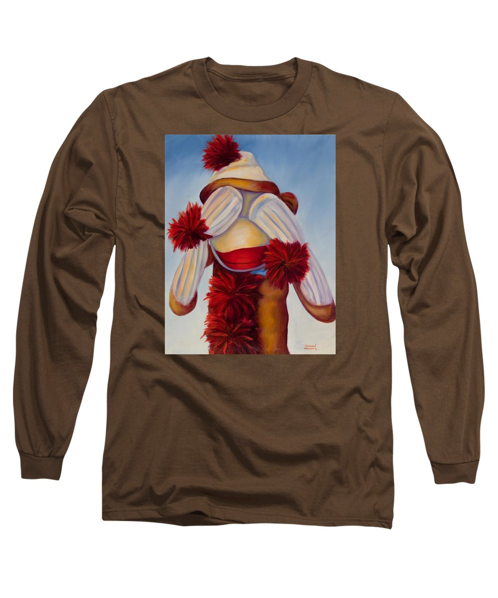 Children Long Sleeve T-Shirt featuring the painting See No Bad Stuff by Shannon Grissom