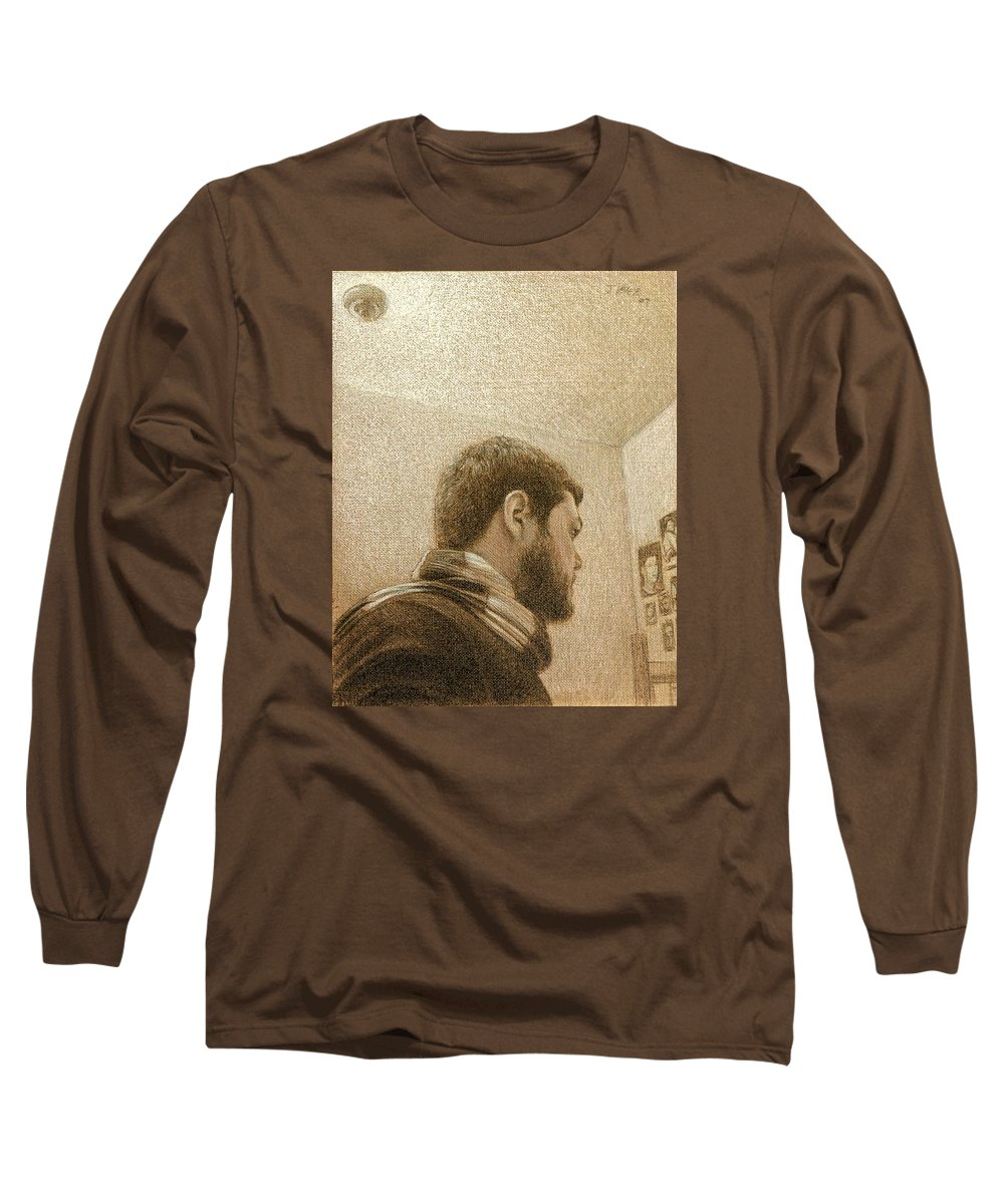 Long Sleeve T-Shirt featuring the painting Self by Joe Velez